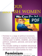 Famous British Women Ppt