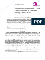 "CHUN, Yang. Application of Literary Theory in Teaching Literature—a Case Study From ""Approaching Fiction"" in China Youth University of Political Studies"