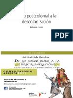 De Lo Postcolonial a La Descolonización