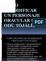 Como Decodificar Un Personaje Oracular u Odù Tójálè