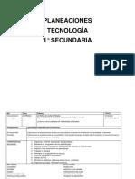 PLANEACIONES 1° OK TECNOLOGIA