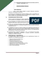 Especificaciones Tecnicas Puente Santa Rosa