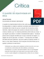 A questão da objectividade em ética - texto 2