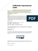 Compartilhando Impressoras No Samba