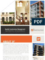 3F Construction Corporate Brochure