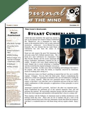 JournaloftheMindV1Issue6 pdf | Magic (Illusion) | Mentalism