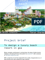 Luxury Beach resort in Goa Proposed design