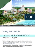 Luxury Beach resort in Goa Proposed design