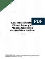 07. Las Instituciones Financieras y El Medio Ambiente en a.L. Ruy de Villalobos