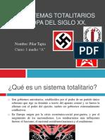 Los Sistemas Totalitarios en Europa Del Siglo XX
