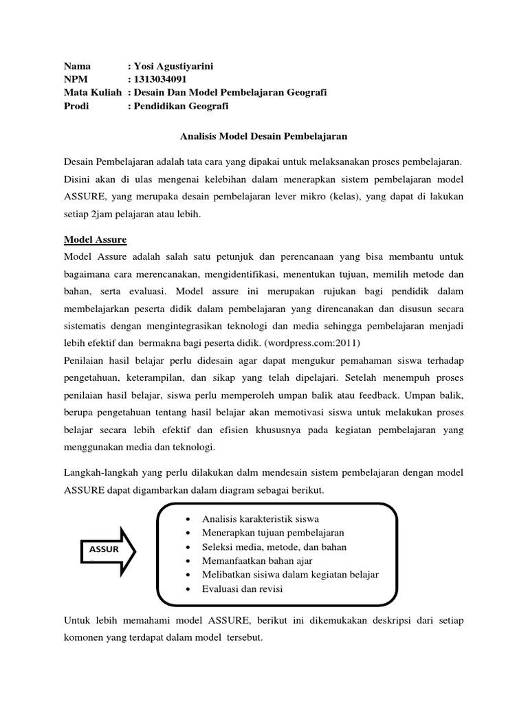Tgs analisis desain pembelajaran ccuart Choice Image