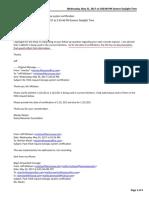 Milsteen CES-KSU System Certification correpondence