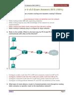 CCNA 2 Chapter 6 v5.0 Exam Answers 2015 100