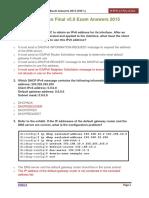 CCNA 2 Practice Final v5.0 Exam Answers 2015 100