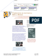 Predavanje NDC Mostar 2001.g.
