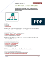 CCNA 3 Chapter 3 v5.0 Exam Answers 2015 100
