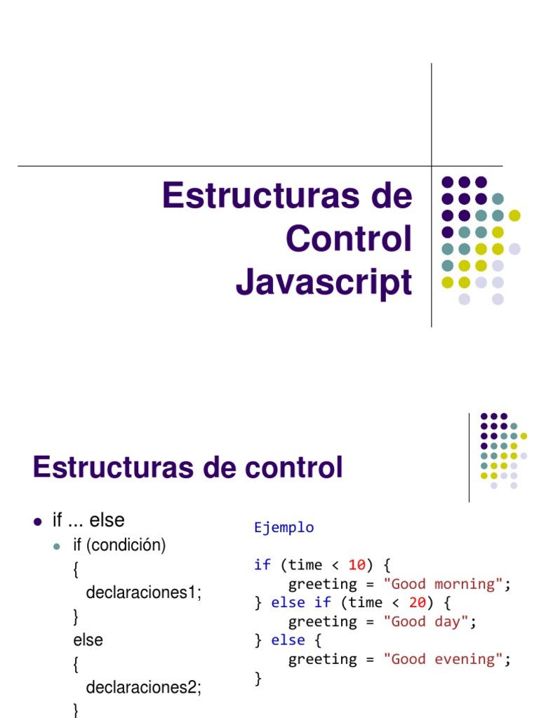 Clase 6 Estructura De Control Javascript Programación