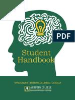 Arbutus Student Handbook_January 2017