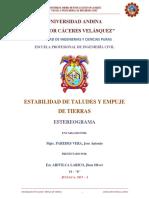 Estereograma - Estabilidad de Taludes y Empuje de Tierras - Jhon Oliver Arivilca Larico 1