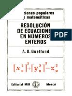 Resolución de Ecuaciones en Números Enteros - Guelfund