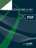 Declaracion Red Adif 2009