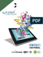 AOC MW0831 Tablet User Manual V1.1