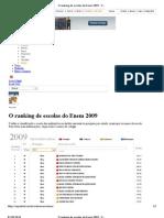 O Ranking de Escolas Do Enem 2009 - Maua