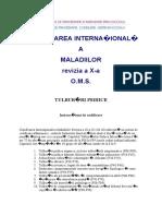 Clasificarea International A a Maladiilor
