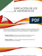 Clasificacion de Modelos Matematicos - Sistemas Lineales y No Lineales