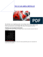 Menghitung Luas Area Dengan Autocad