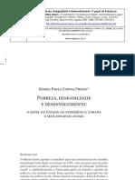 Desigualdade e Desenvolvimento Mayra Espina Pietro