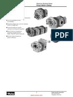 Parker Comoso P16 Series Aluminium Bushing Gear Pump.55b98395d96e7