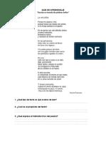 Guía de Aprendizaje Poesia