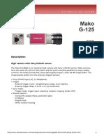 Avt Mako DataSheet G-125