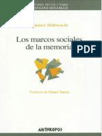 Halbwachs Maurice - Los Marcos Sociales de La Memoria