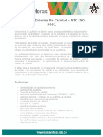 Auditoria Interna Calidad NTC ISO9001