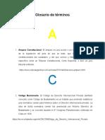 Glosario de términos UDEFA Teoría General Del Proceso