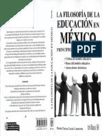 Yurén, T. La Filosofía de La Educación en México.