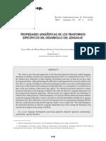 05166048 HINCAPIÉ ET AL. - Propiedades Lingüísticas de Los Trastornos Específicos Del Desarrollo