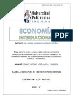 Ensayo Economía Cerrada y Abierta - Economía Internacional