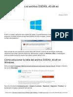 Que hacer si falta el archivo d3dx9_43.dll.pdf
