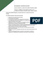 Alcance de La Auditoría Financiera y Auditoria de Gestión