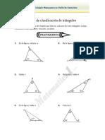 Guía Clasificación de triángulos ejercicios