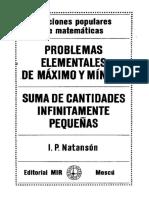 Problemas Elementales de Máximo y Mínimo & Suma de Cantidades Infinitamente Pequeñas - Natasón
