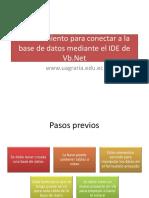 Procedimiento Para Conectar a La Base de Datos