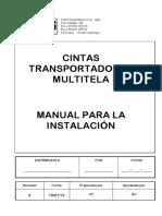Manual para la Instalaciòn - Cinta Trasportadora Multitela - Rev.4 (1)