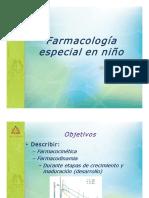 Farmacologia Especial en Ninos Dr Omar Carrasco