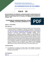 RAC  23 - Estándares Aeronav. Categoría Normal, Utilitaria, Acrobática, Commuter.pdf