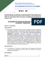 RAC  25 - Estándares Aeronavegabilidad aviones Categoría Transporte.pdf