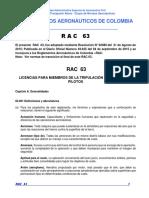 RAC  63 - Licencias para miembros de tripulación diferentes a pilotos.pdf